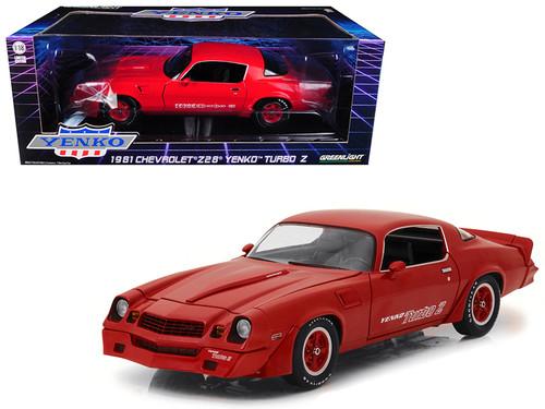 1981 Chevrolet Camaro Z-28 Yenko Turbo Z Red 1/18 Scale Diecast Car Model By Greenlight 12999