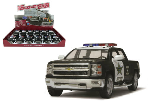 2014 Chevrolet Silverado Police Truck 1/46 Scale BOX Of 12 Kinsmart 5381