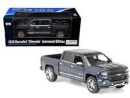 2018 Chevrolet Silverado Centennial Edition Truck Blue 1/27 Scale By Motor Max 79353