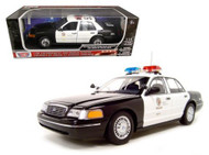 2001 Ford Crown Victoria Interceptor LAPD Los Angeles Police Dept 1/18 Scale By Motor Max 73539