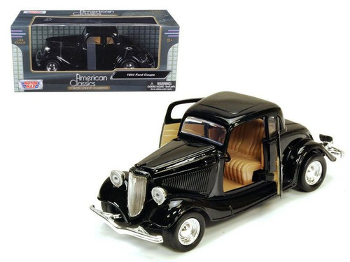 1939 Chevrolet Coupe Black 1/24 Scale Diecast Car Model By Motor Max 73247