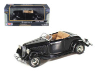1934 Ford Coupe Convertible Black 1/24 Scale Diecast Car Model By Motor Max 73218