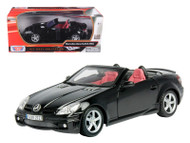 2005 Mercedes Benz SLK55 AMG Convertible Black 1/18 Scale Diecast Car Model By Motor Max 73162