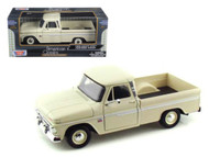 1966 Chevrolet C-10 Fleetside Pickup Truck Beige 1/24 Scale Diecast Model By Motor Max 73355
