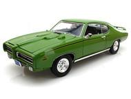 Motor Max 1/18 Scale American Classics 1969 Pontiac GTO Judge Green Diecast Car Model 73133