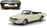 1964 1/2 Ford Mustang Convertible White 1/18 Scale Diecast Car Model By MotorMax 73145