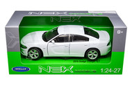 2016 Dodge Charger White 1/24-27 Scale Diecast Car Model By Welly 24079