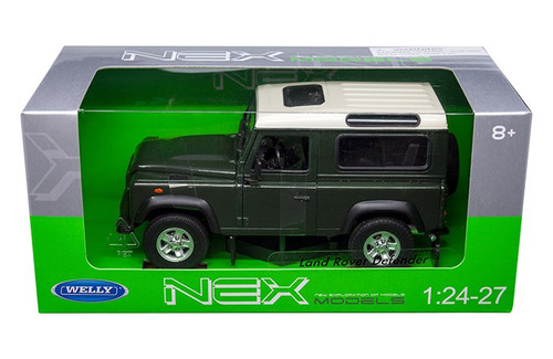 Land Rover Defender Green 1/24-27 Scale Diecast Car Model By Welly 22498