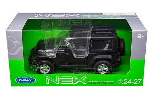 2007 Jeep Wrangler Dark Gray 1/24-27 Scale Diecast Car Model By Welly 22489