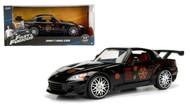 Honda S2000 Johnnys Black Fast & Furious 1/24 Scale Diecast Car Model By Jada 99541