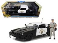 1979 Chevrolet Camaro Z/28 California Highway Patrol CHP Police Officer Figurine 1/18 Scale Diecast Car Model By Greenlight 13506