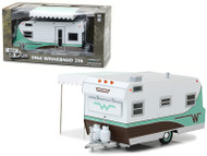 1964 Winnebago 216 Travel Trailer Green 1/24 Scale Diecast Model By Greenlight 18430
