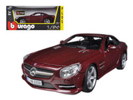 Mercedes SL 500 Coupe Red 1/24 Scale Diecast Car Model By Bburago 21067