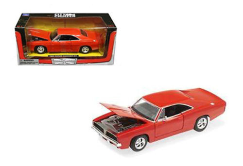 1969 Dodge Charger R/T Orange 1/24 Scale Diecast Car Model By Newray 71895