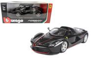 LaFerrari Aperta F70 Black 1/24 Scale Diecast Car Model By Bburago 26022