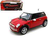 Mini Cooper Red 1/18 Scale Diecast Car Model By Motor Max 73114