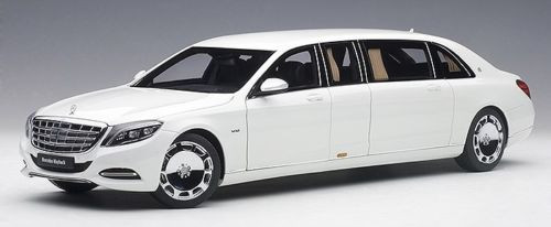 Mercedes Maybach S 600 Pullman White 1/18 Scale Diecast Car Model By AUTOart 76296