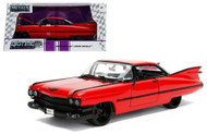 1959 Cadillac Coupe DeVille Red 1/24 Scale Diecast Car Model By Jada 99990