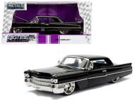 1963 Cadillac Black 1/24 Scale Diecast Car Model By Jada 99550