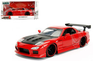 1993 Mazda RX-7 Red JDM Tuners 1/24 Scale Diecast Car Model By Jada 98677