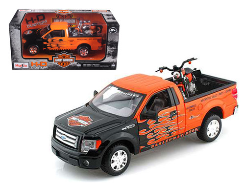 Ford F  Stx Truck N Nightster Harley Davidson Motorcycle   Scalecast Model