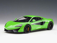 McLaren 570S Mantis Green Black Wheels 1/18 Scale Diecast Car Model By AUTOart 76042