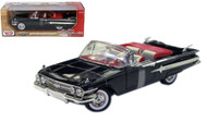 1960 Chevrolet Impala Convertible Black 1/18 Scale Diecast Car Model By Motor Max 73110