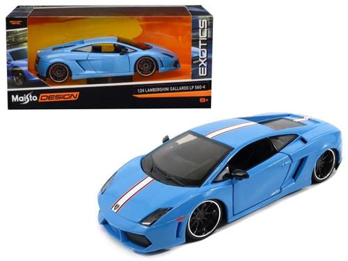 Lamborghini Gallardo LP560-4 Blue Exotics 1/24 Scale Diecast Car Model By Maisto 31352