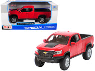 2017 Chevrolet Colorado ZR2 Truck Red 1/27 Scale Diecast Model By Maisto 31517
