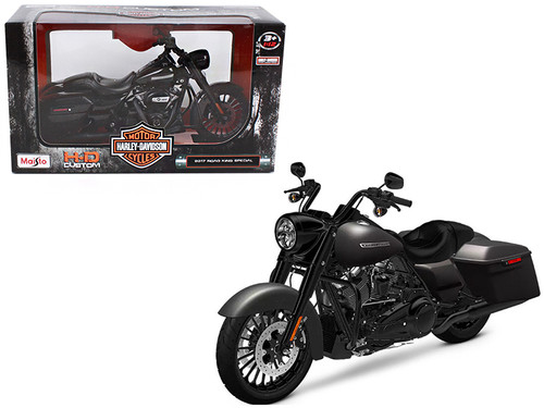 2017 Harley Davidson King Road Special Black Motorcycle Model 1/12 Scale By Maisto 32336