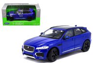 Jaguar F-Pace F Pace Blue SUV 1/24-27 Scale Diecast Car Model By Welly 24070