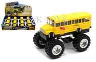 "Monster Truck School Bus Display Box Of 8 4.75"" Long Diecast Model Welly 47006"