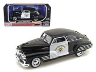 1948 Chevrolet Aerosedan Fleetline Police 1/24 Scale Diecast Car Model By Motor Max 76454