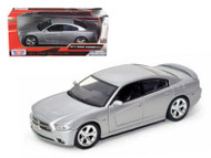 2011 Dodge Charger R/T Silver 1/24 Scale Diecast Car Model By Motor Max 73354