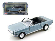 1964 1/2 Ford Mustang Blue 1/24 Scale Diecast Car Model By Motor Max 73212