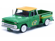 Greenlight 1/18 Scale 1965 Chevy C-10 Stepside Pick Up Truck Quaker State Green Diecast Model 12874
