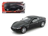 Maserati Gran Turismo Black 1/24 Scale Diecast Car Model By Motor Max 73361