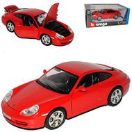 Porsche 911 Carrera 4S Red 1/18 Scale Diecast Car Model By Bburago 12037
