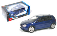 Volkswagen Golf Blue 1/18 Scale Diecast Car Model By Bburago 12071