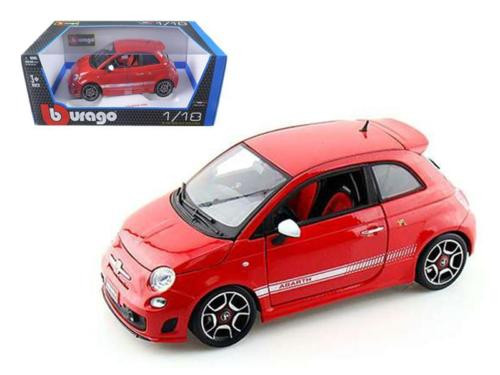 2008 Fiat Abarth 500 Red 1/18 Scale Diecast Car Model BY Bburago 12078