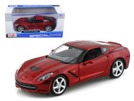 2014 Chevy Corvette C7 Stingray Red 1/24 Scale Diecast Car Model By Maisto 31505