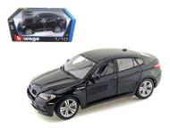 BMW X6 M Black 1/18 Scale Diecast Car Model By Bburago 12081