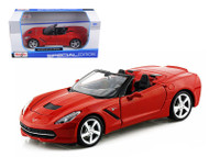 2014 Chevy Corvette C7 Stingray Convertible Red 1/24 Scale Diecast Car Model By Maisto 31501