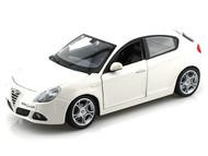 Alfa Romeo Giulietta White 1/24 Scale Diecast Car Model By Bburago 21071