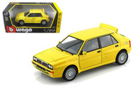 Lancia Delta HF Integrale EVO 2 Yellow 1/24 Scale Diecast Car Model By Bburago 21072