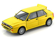 Bburago 1/24 Scale Lancia Delta HF Integrale EVO 2 Yellow Diecast Car Model 21072