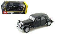 1938 Citroen 15 CV TA Black 1/24 Scale Diecast Car Model By Bburago 22017