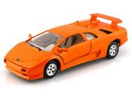Lamborghini Diablo Orange 1/24 Scale Diecast Car Model By Bburago 22086