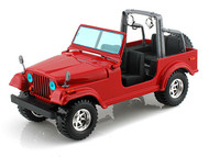 Bburago 1/24 Scale 2003 Jeep CJ-7 Wrangler Red Diecast Car Model 22033