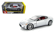 2008 Maserati Gran Turismo Silver 1/24 Scale Diecast Car Model By Bburago 22107